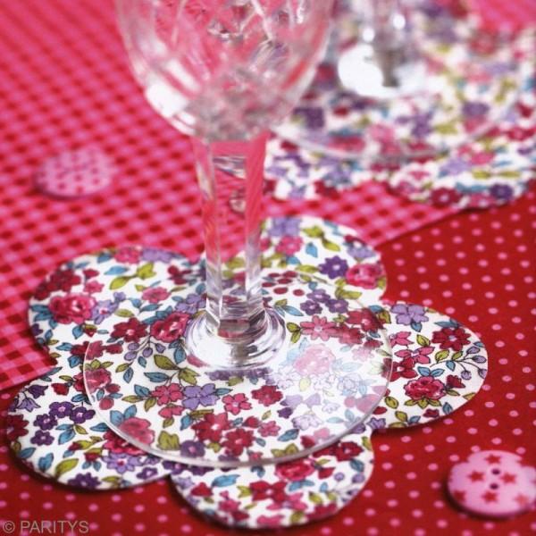 Tissu Frou Frou fleuri n°13 - A la coupe par 10 cm (sur mesure) - Photo n°3
