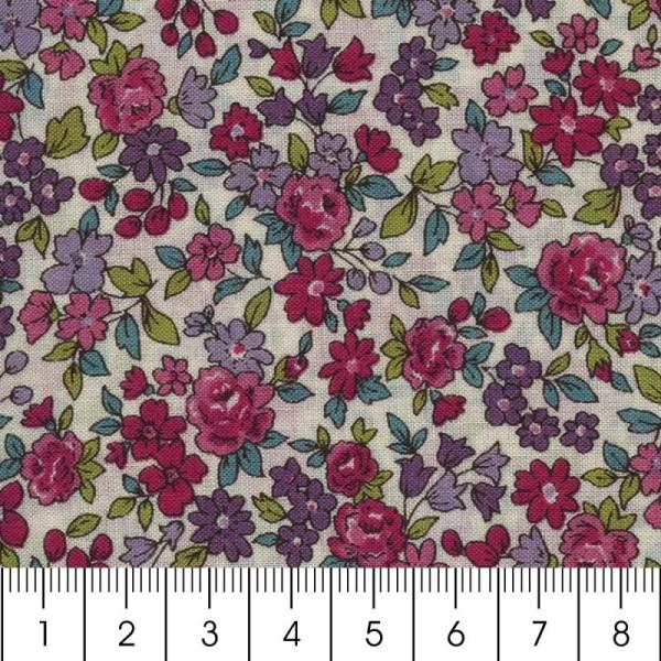 Tissu Frou Frou fleuri n°13 - A la coupe par 10 cm (sur mesure) - Photo n°5