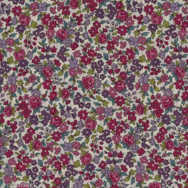 Tissu Frou Frou fleuri n°13 - A la coupe par 10 cm (sur mesure) - Photo n°1