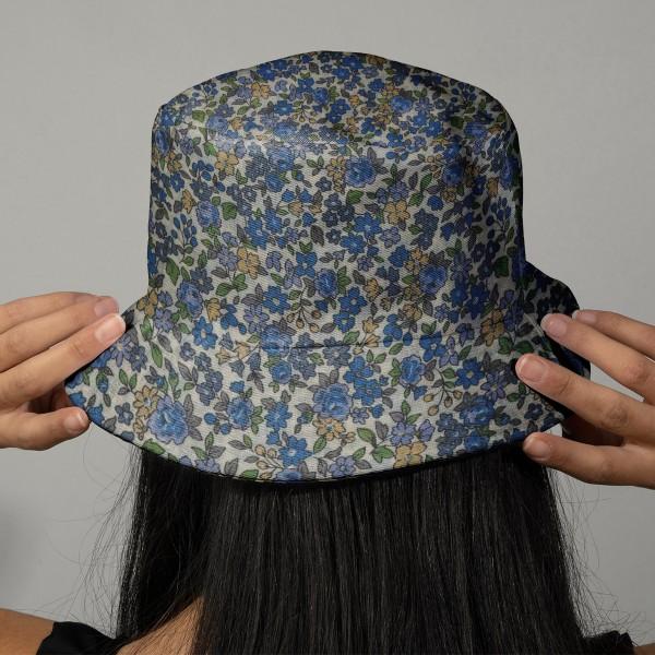 Tissu Frou Frou fleuri n°15 - A la coupe par 10 cm (sur mesure) - Photo n°2