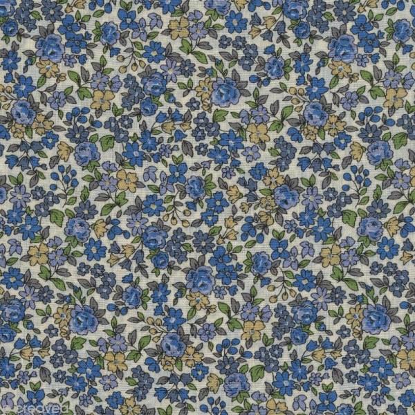Tissu Frou Frou fleuri n°15 - A la coupe par 10 cm (sur mesure) - Photo n°1