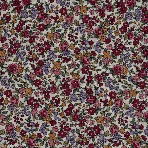 Tissu Frou Frou fleuri n°19 - A la coupe par 10 cm (sur mesure) - Photo n°1