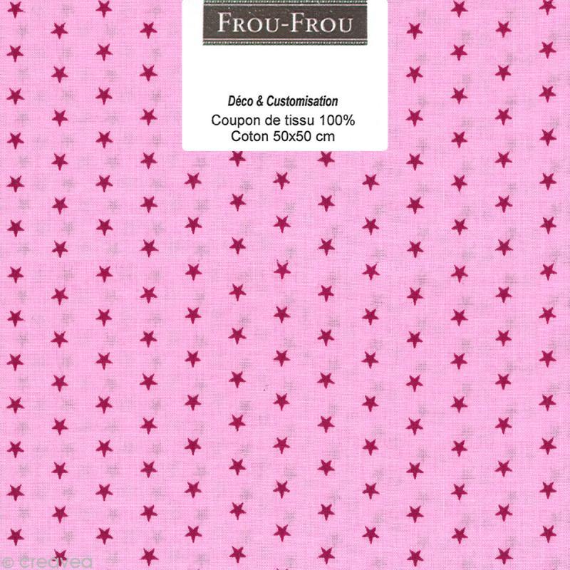 Coupon tissu Frou Frou Camélia - Etoilé (307) - 50 x 50 cm - Photo n°1
