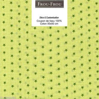 Coupon tissu Frou Frou Jardin d'oliviers - Etoilé (312) - 50 x 50 cm