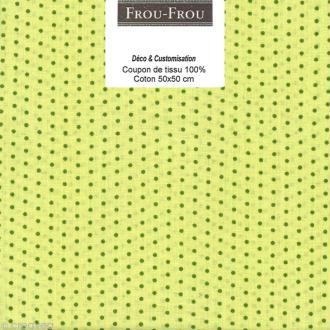 Coupon tissu Frou Frou Jardin d'oliviers - Points (412) - 50 x 50 cm
