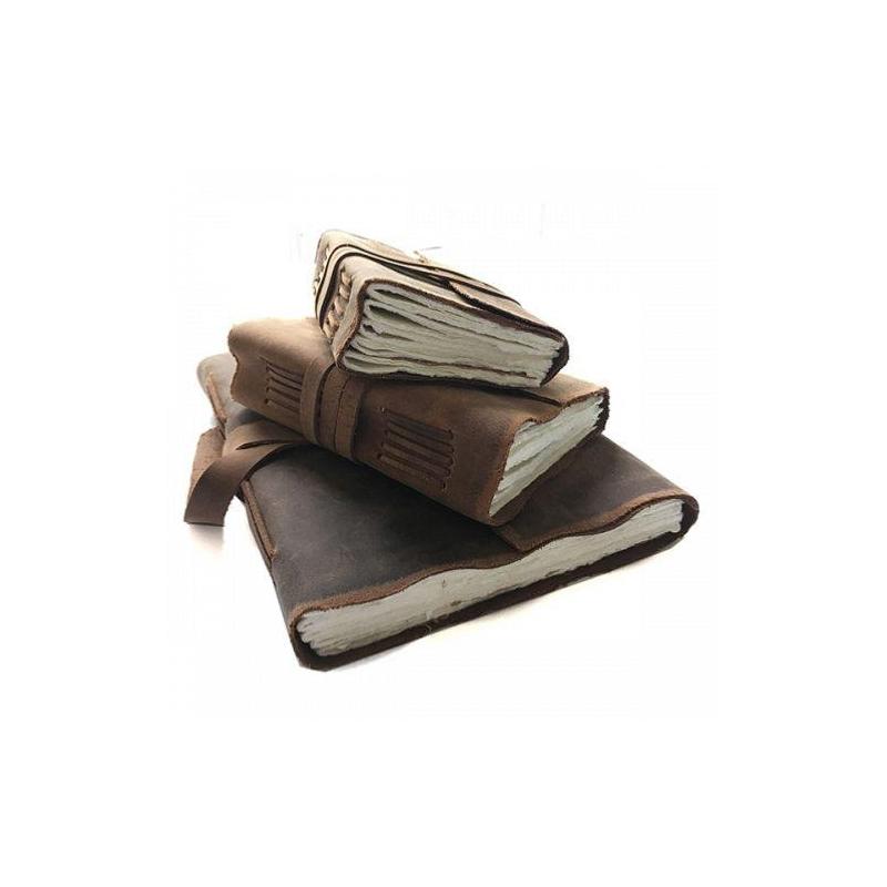 carnet de voyage cuir yaatra 180p coton 20x24 cm fait main. Black Bedroom Furniture Sets. Home Design Ideas