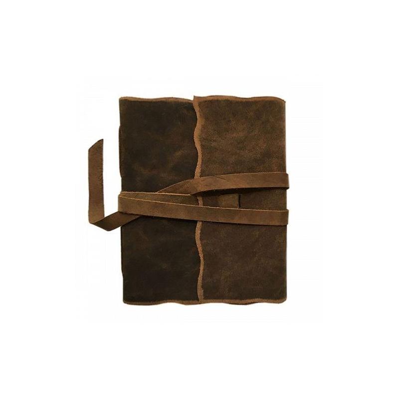 carnet de voyage cuir yaatra 180p coton 20x24 cm fait main en inde carnet de notes creavea. Black Bedroom Furniture Sets. Home Design Ideas