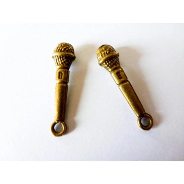 4 Breloques Micro Bronze - 25*6mm - Photo n°1