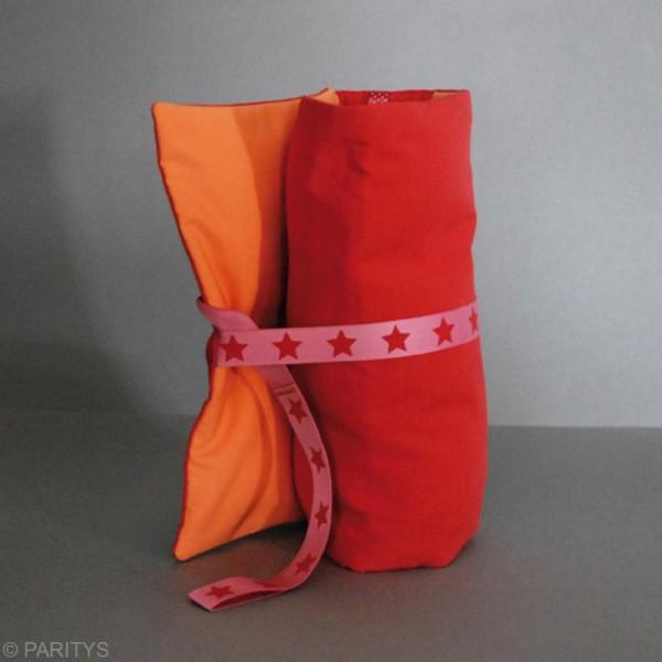 Coupon tissu Frou Frou uni - Douceur mandarine foncé (709) - 50 x 50 cm - Photo n°2