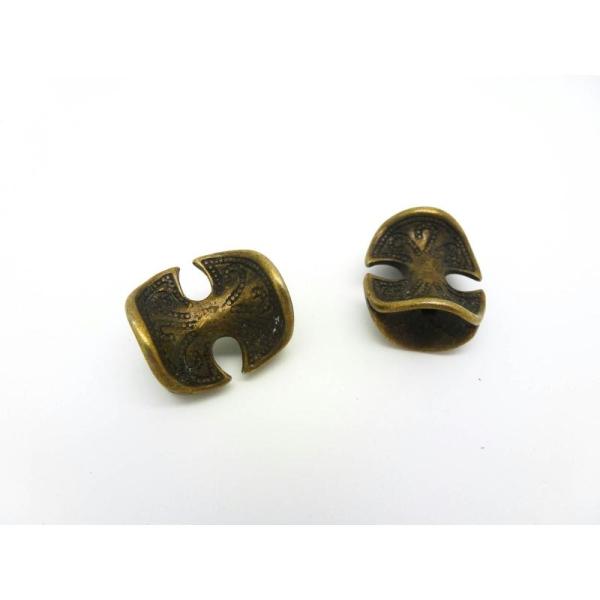 2 Perles En Métal Ethnique - 18*16mm - Bronze - Photo n°1