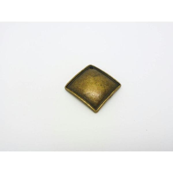 1 Pendentif Carré 26*26Mm Ethnique  Métal Couleur Bronze - Photo n°1