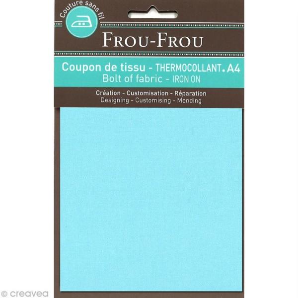 Tissu thermocollant Frou Frou uni - Bora Bora Lagoon clair - A4 - Photo n°1