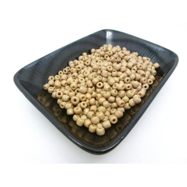 20 Grammes Perles Rocailles Kaki Clair 4Mm 6/0 - Photo n°1