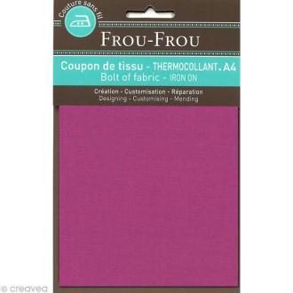 Tissu thermocollant Frou Frou uni - Camélia foncé - A4