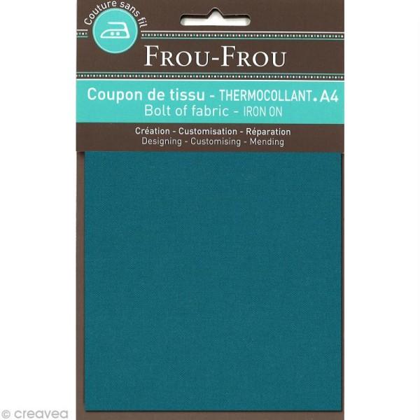 Tissu thermocollant Frou Frou uni - Bora Bora Lagoon foncé - A4 - Photo n°1