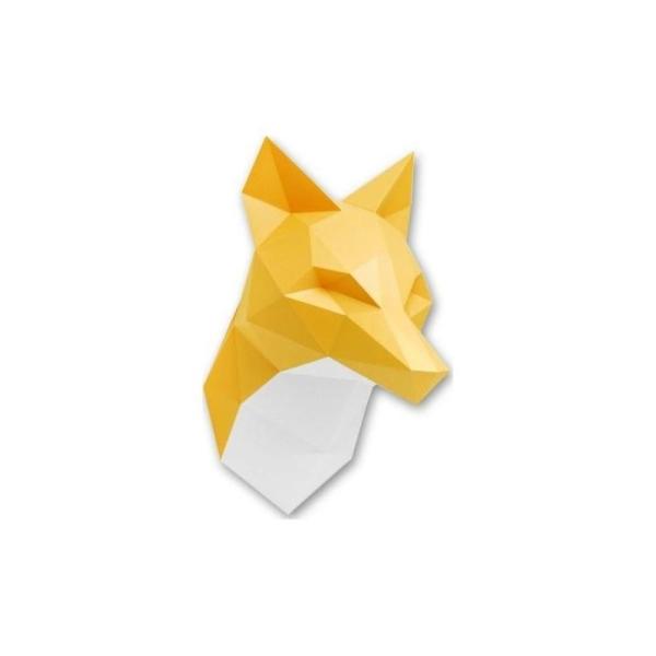 kit de pliage troph e origami renard orange fabriquer 48x26cm t te d 39 animaux et troph es. Black Bedroom Furniture Sets. Home Design Ideas
