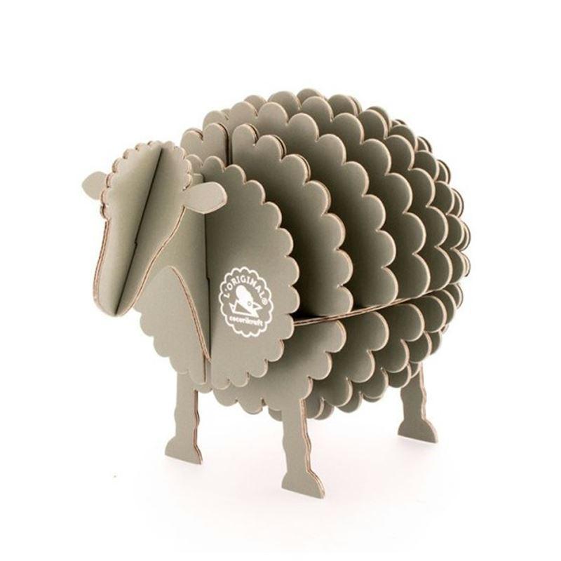 mouton en carton gris taille s cocorikraft jouets en carton creavea. Black Bedroom Furniture Sets. Home Design Ideas