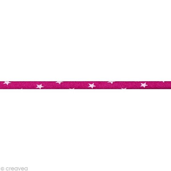 Cordon spaghetti - Frou-frou Camélia Etoile - 7 mm au mètre (sur mesure) - Photo n°1