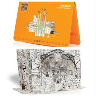 Coloriage 3D Ville de Barcelone Mon Petit Art