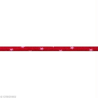 Cordon spaghetti - Frou-frou Rubis éclatant Etoile - 7 mm au mètre (sur mesure)