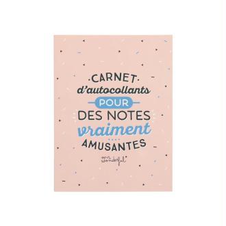 Carnet d'autocollants pour notes amusantes Mr Wonderful