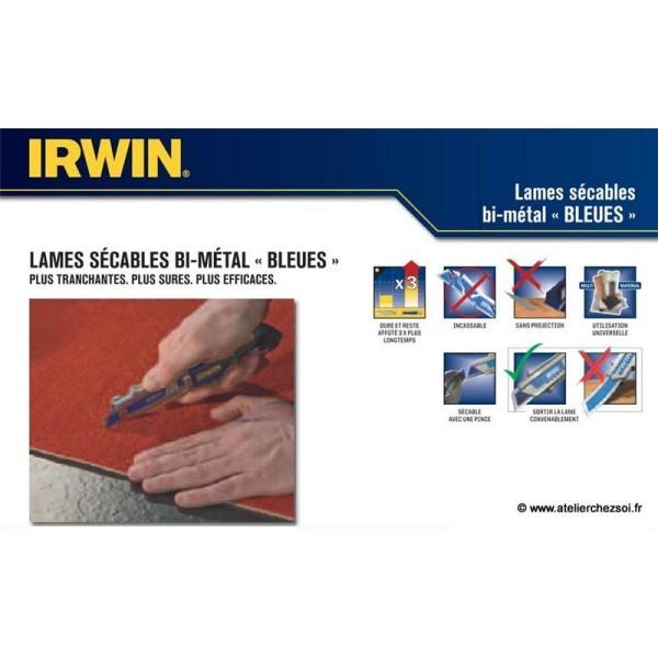 50 Lames de cutter 18 mm Bi-Métal Irwin - Photo n°3