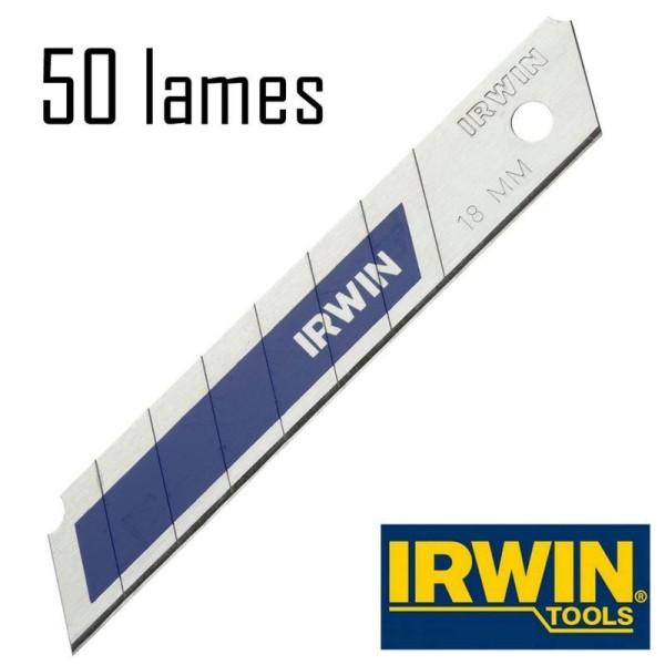 50 Lames de cutter 18 mm Bi-Métal Irwin - Photo n°1