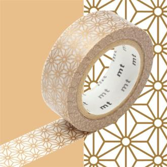 Masking Tape motif Asanoha Or Rouleau 15mm x 10m