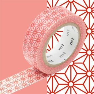 Masking Tape motif Asanoha Rouge Rouleau 15mm x 10m