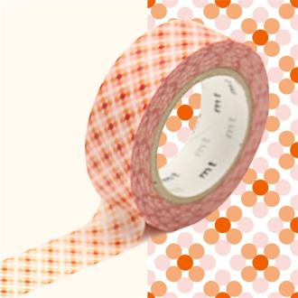 Masking Tape motif Oboro point Rouge Rouleau 15mm x 10m