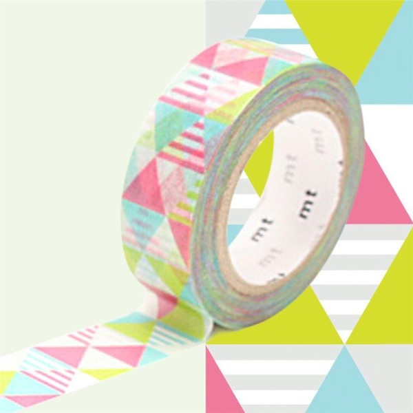 Masking Tape motif Losange Rose Rouleau 15mm x 10m - Photo n°1