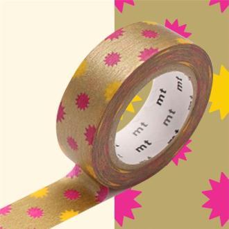 Masking Tape motif Soleil Or Rouleau 15mm x 10m