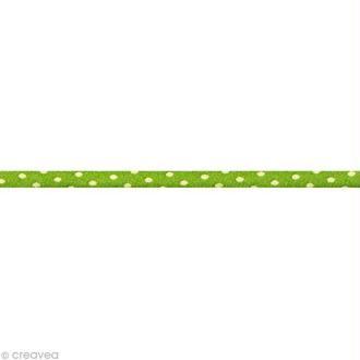 Cordon spaghetti - Frou-frou Jardin d'oliviers Pois - 7 mm au mètre (sur mesure)