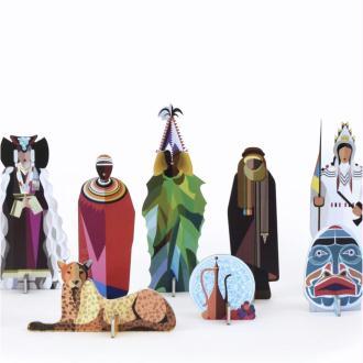 Peuples du monde Figurines en carton Volume 2 Studioroof