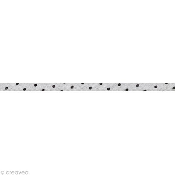 Cordon spaghetti - Frou-frou Ciel d'orage Points - 7 mm au mètre (sur mesure) - Photo n°1
