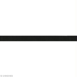 Ruban gros grain - 16 mm - Noir - Au mètre (sur mesure)