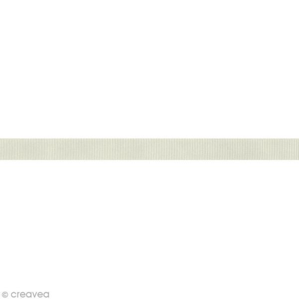 Ruban gros grain - 16 mm - Blanc ivoire - Au mètre (sur mesure) - Photo n°1