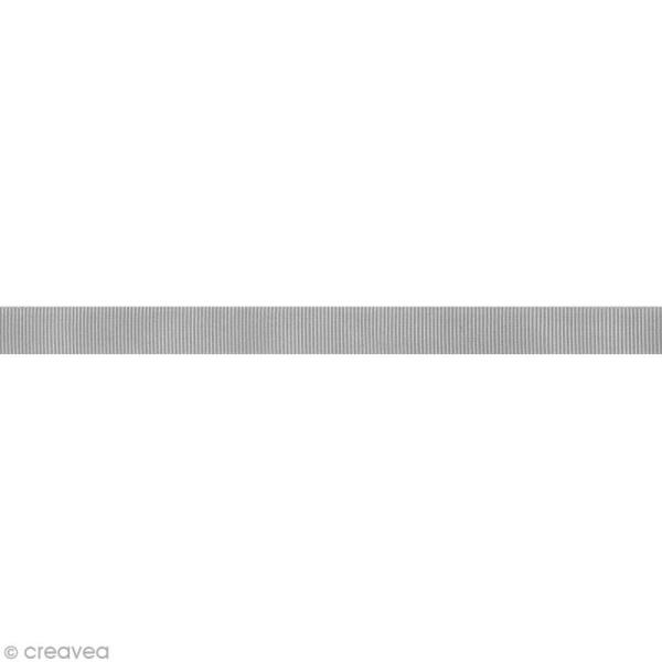 Ruban gros grain - 16 mm - Gris clair - Au mètre (sur mesure) - Photo n°1