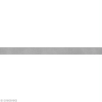 Ruban gros grain - 16 mm - Gris clair - Au mètre (sur mesure)