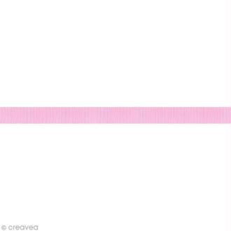 Ruban gros grain - 16 mm - Rose clair - Au mètre (sur mesure)