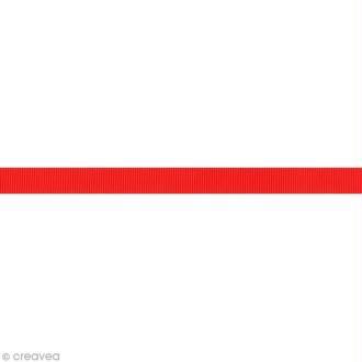 Ruban gros grain - 16 mm - Rouge - Au mètre (sur mesure)