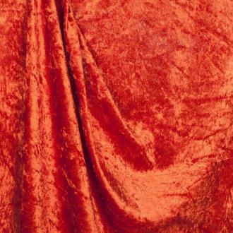 Tissu panne de velours - Orange rouille - PAR 50CM
