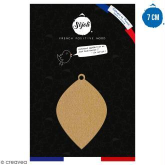 Suspension Goutte en bois à décorer - 7 cm - Collection Noël