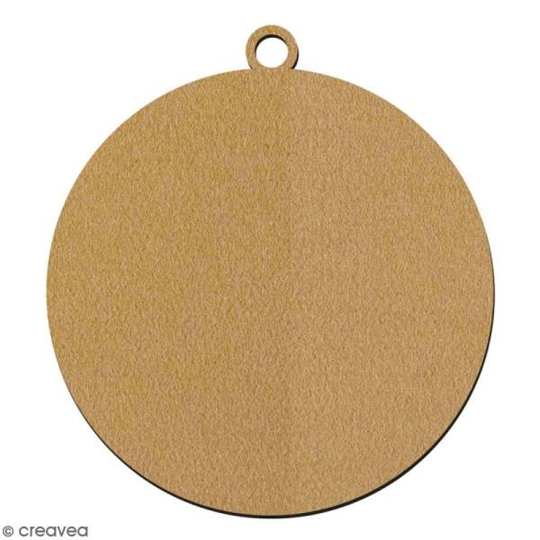 Suspension ronde Boule en bois à décorer - 7 cm - Collection Noël - Photo n°2