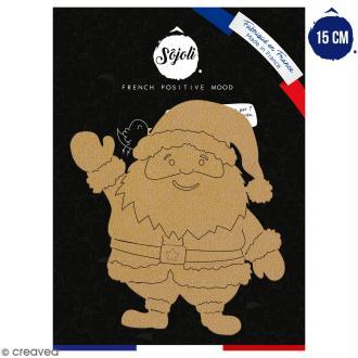 Père Noël en bois à décorer - 15 cm - Collection Noël