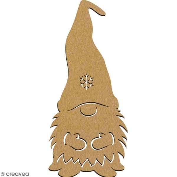 Lutin avec bonnet en bois à décorer - 15 cm - Collection Noël - Photo n°2