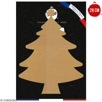 Sapin de Noël en bois à décorer - 28 cm - Collection Noël