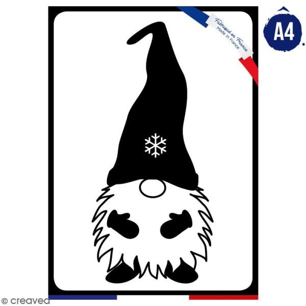 Pochoir multiusage A4 - Lutin de Noël - 1 planche - Collection Noël - Photo n°1