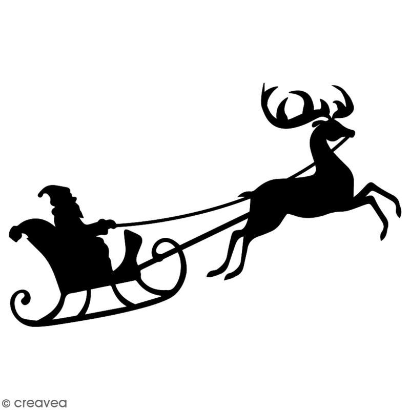 Pochoir multiusage A4 - Traineau du Père Noël - 1 planche - Collection Noël - Photo n°2