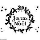Pochoir multiusage A4 - Couronne Joyeux Noël - 1 planche - Collection Noël - Photo n°2